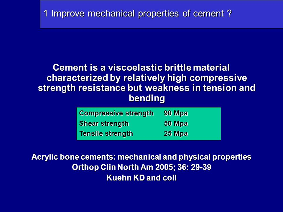 SO ……… With a Matt surface –No relative movement between stem and cement possible –Micromotions result in localy debonded areas at the bone cement interface which create an abrasive medium that induce osteolisys Bone PMMA Stem
