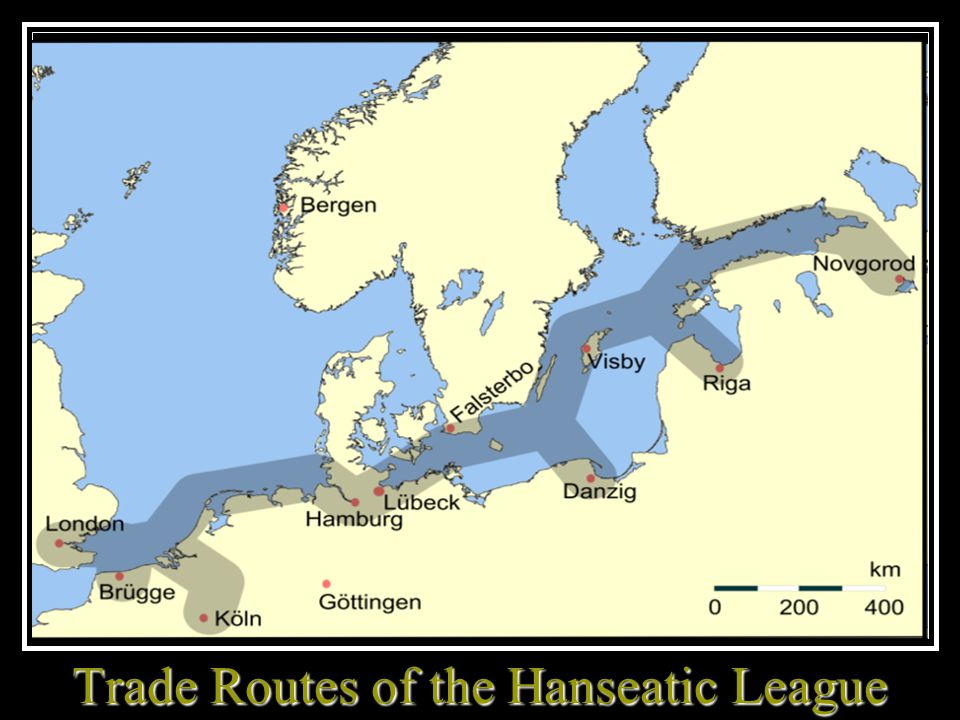Trade Routes of the Hanseatic League