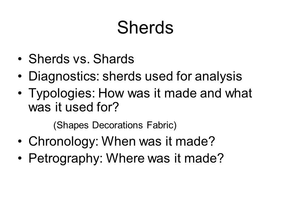 Sherds Sherds vs.