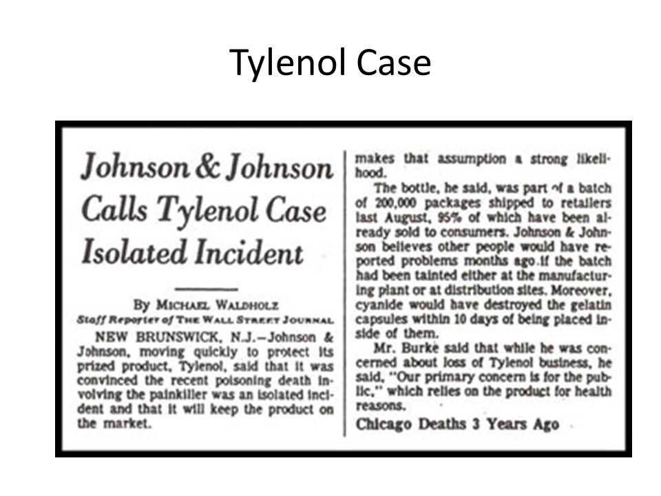 Tylenol Case