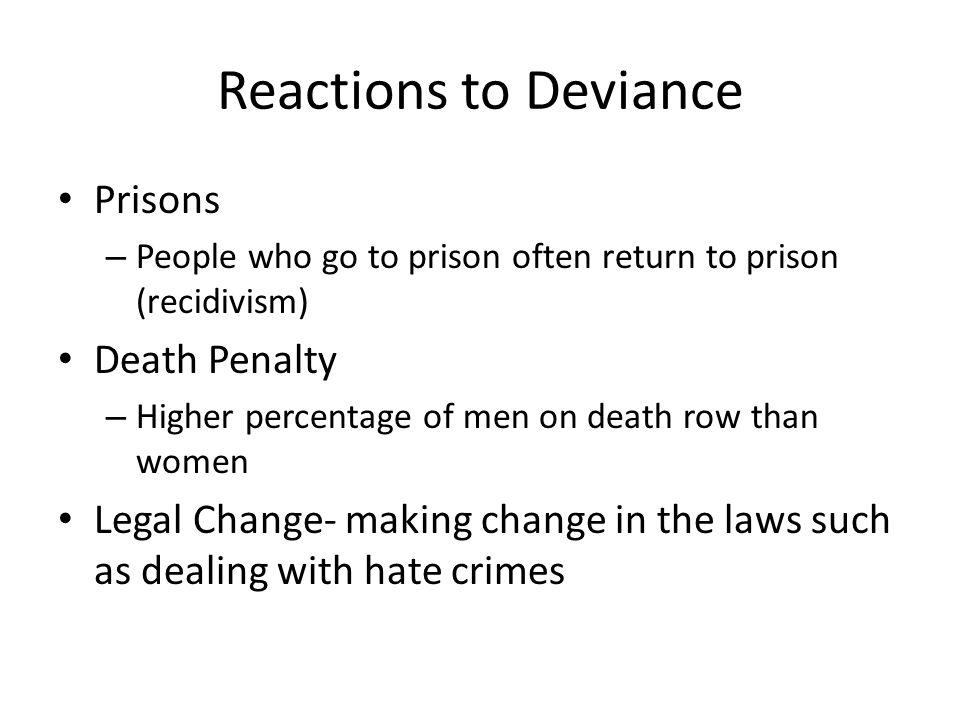 Medicalization of Deviance Is deviant behavior a result of mental illness or simply problem behaviors.