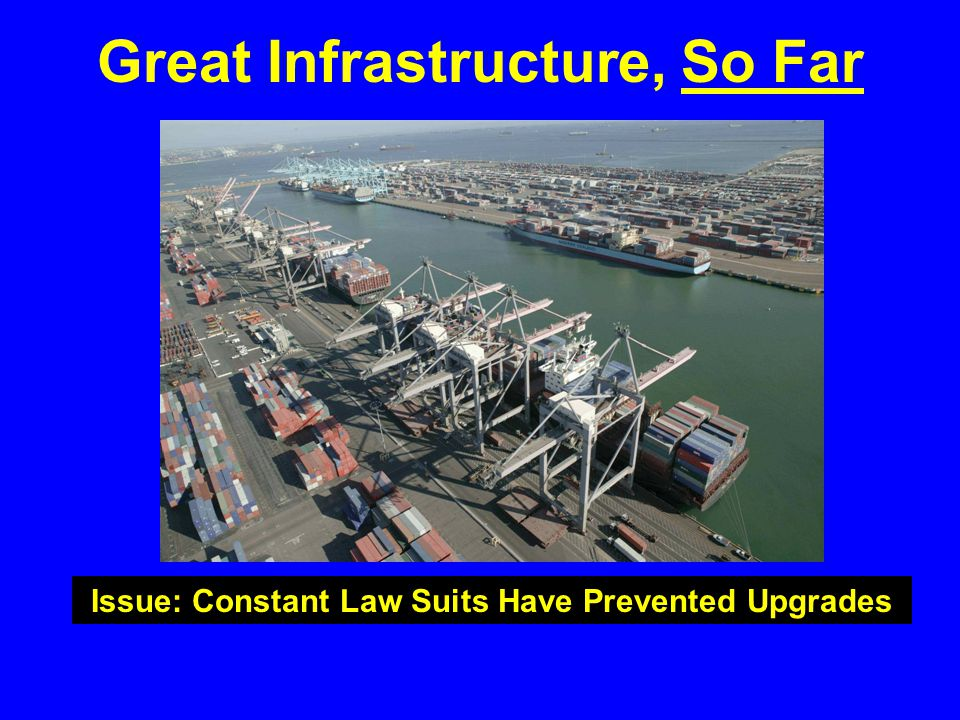 Great Infrastructure, So Far Issue: Constant Law Suits Have Prevented Upgrades