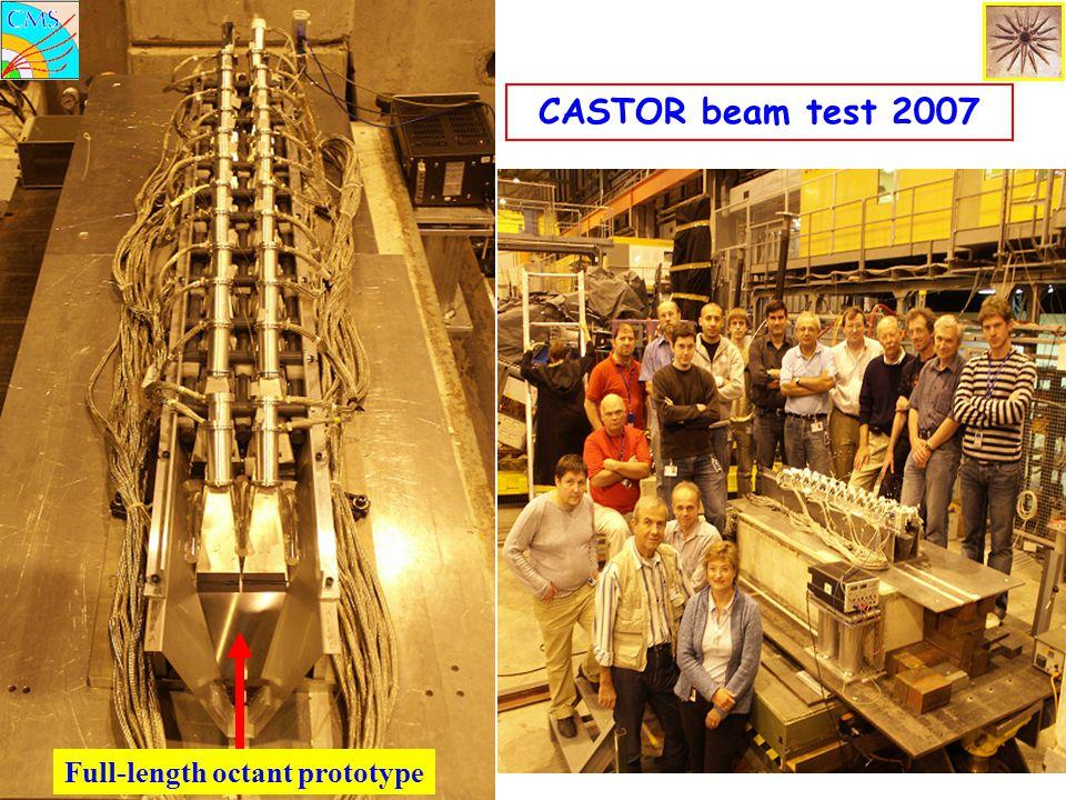 CASTOR beam test 2007 Full-length octant prototype