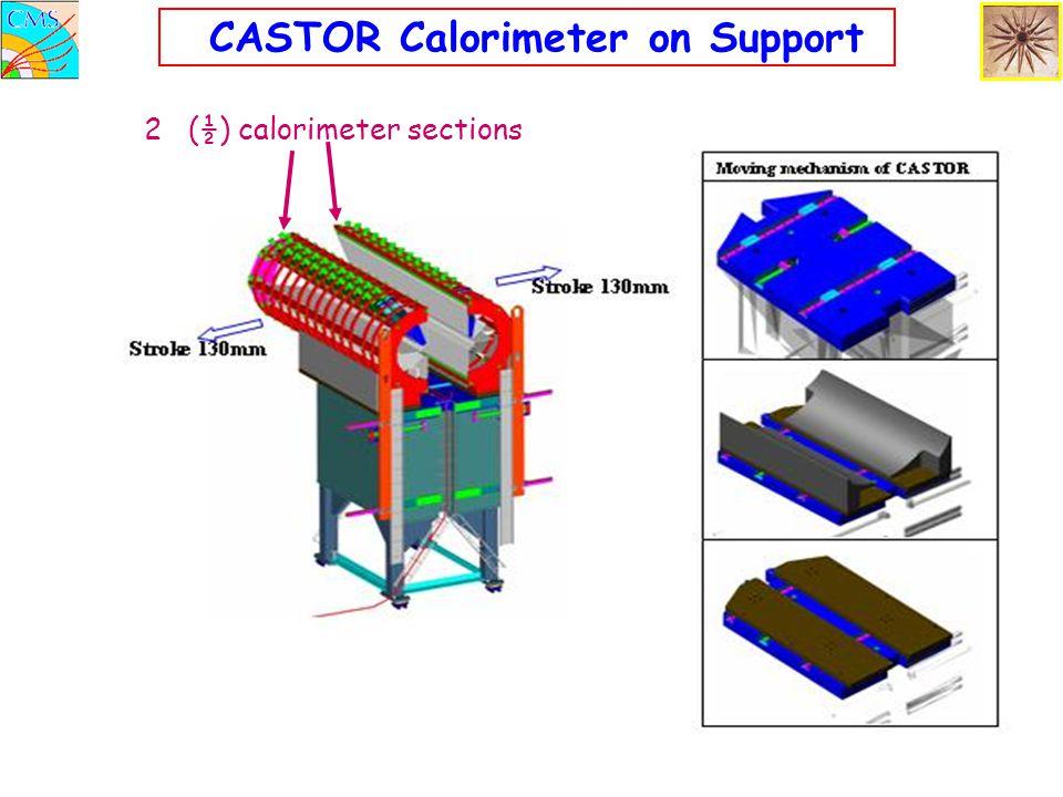 CASTOR Calorimeter on Support 2 (½) calorimeter sections