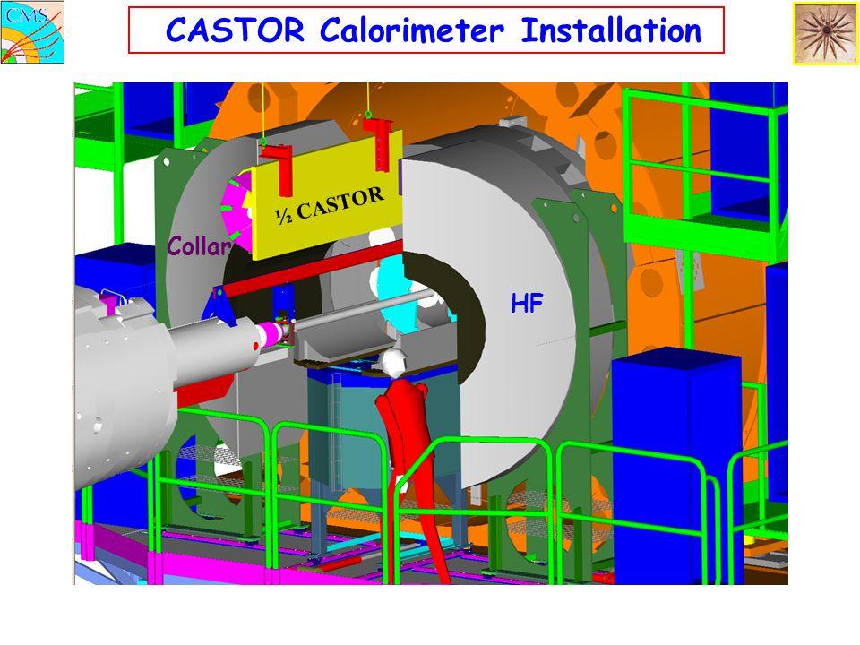 ½ CASTOR CASTOR Calorimeter Installation HF Collar