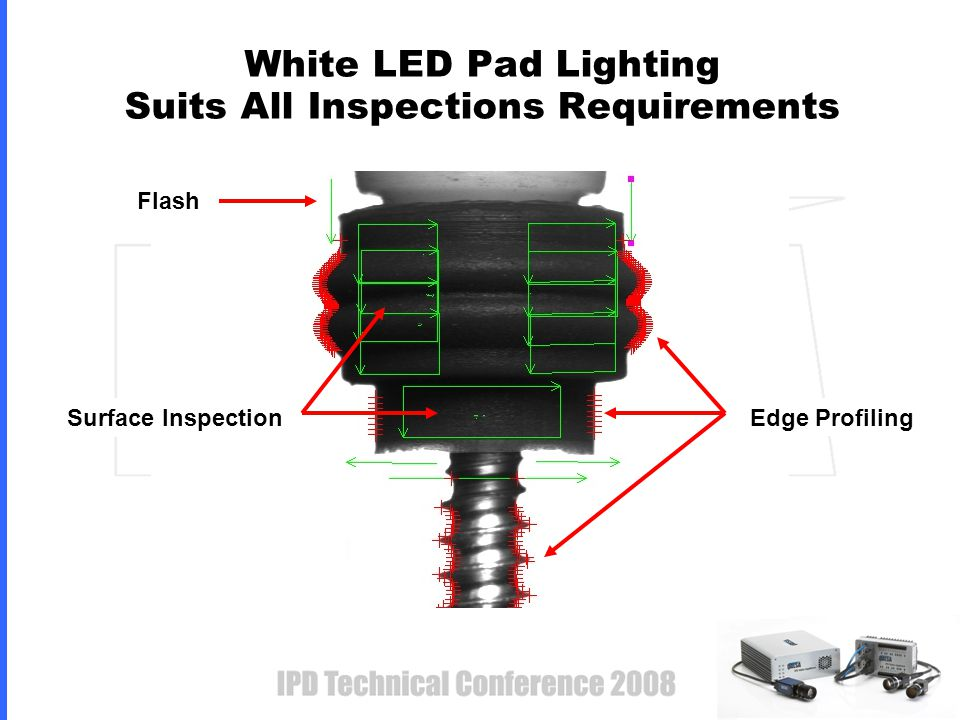 White LED Pad Lighting Suits All Inspections Requirements Edge Profiling Surface Inspection Flash