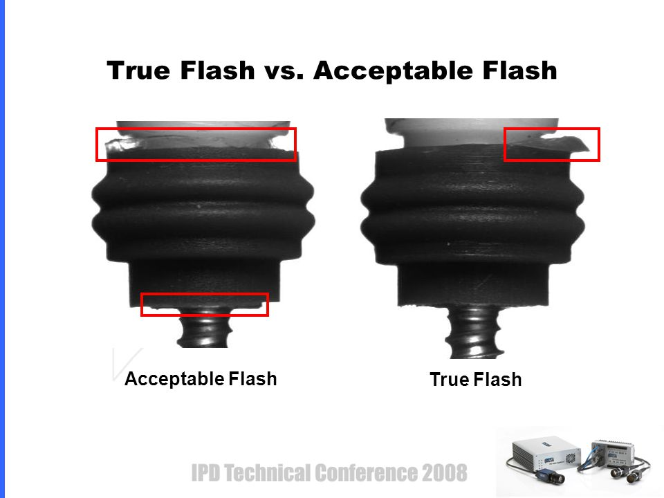 True Flash vs. Acceptable Flash Acceptable Flash True Flash