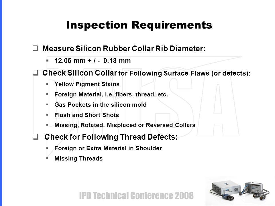 Critical Measure: Rib Diameter Rib Diameter + / - 0.13 mm