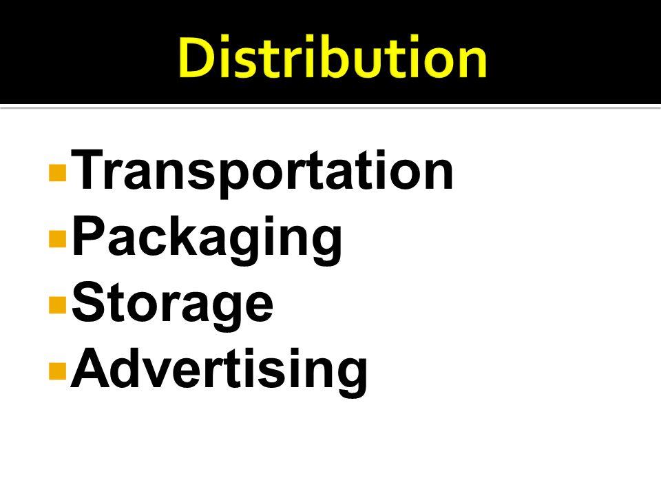  Transportation  Packaging  Storage  Advertising