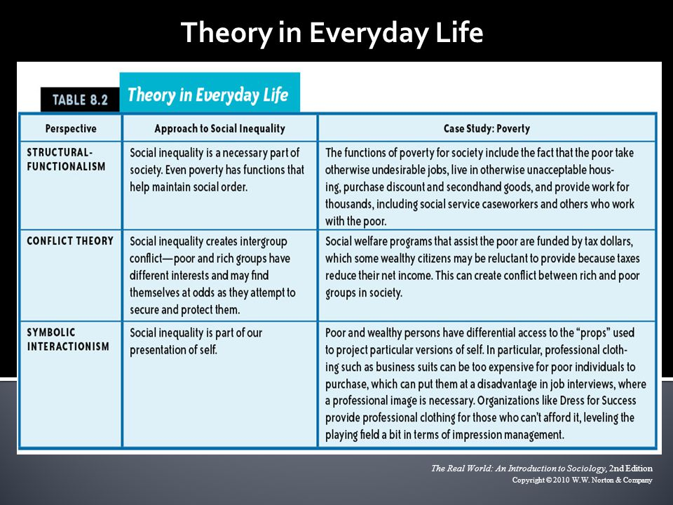 Theory in Everyday Life The Real World: An Introduction to Sociology, 2nd Edition Copyright © 2010 W.W. Norton & Company