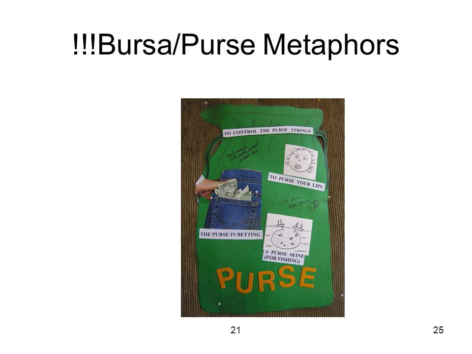 2125 !!!Bursa/Purse Metaphors