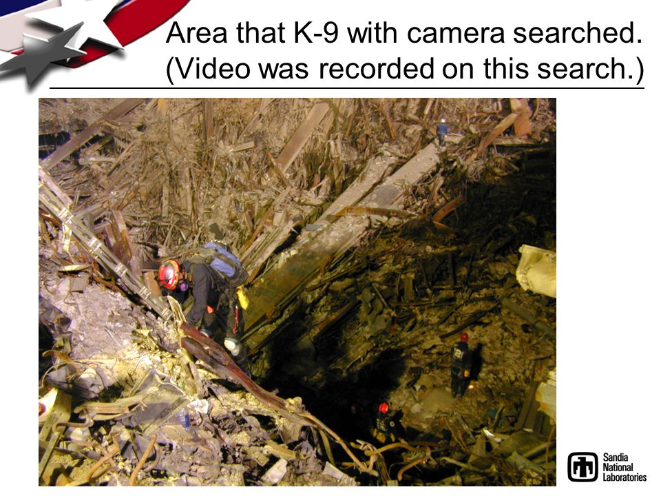 Area that K-9 with camera searched. (Video was recorded on this search.)