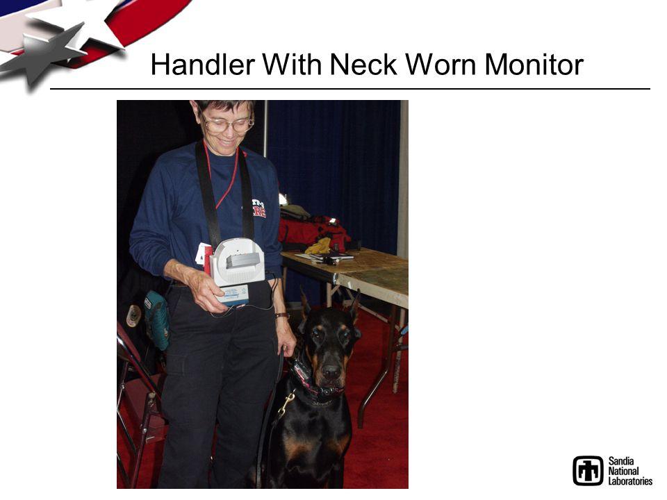 Handler With Neck Worn Monitor