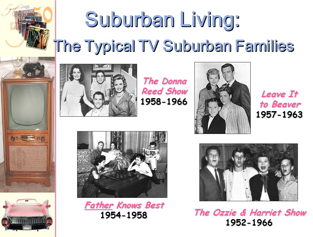 TV Shows Look at the pictures of the four shows on the next slide What do you see? What do these families represent? What is missing?