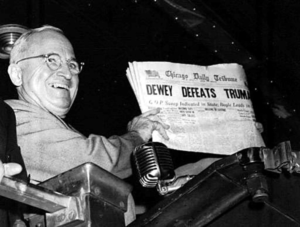 1948 Presidential Election Greatest Election Upset? Almost all polls had Dewey as the Victor!!!