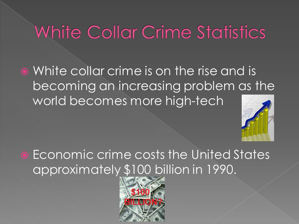  White collar crimes can be prosecuted at the state or federal level, depending on whether a state or federal law was broken.