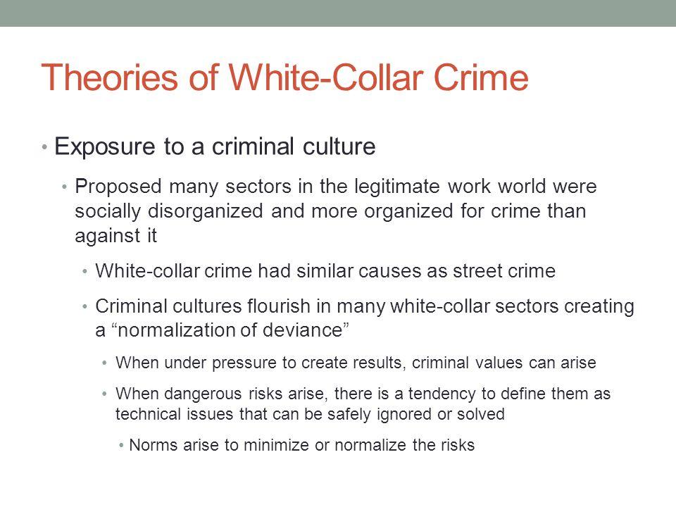 white collar crime social interaction