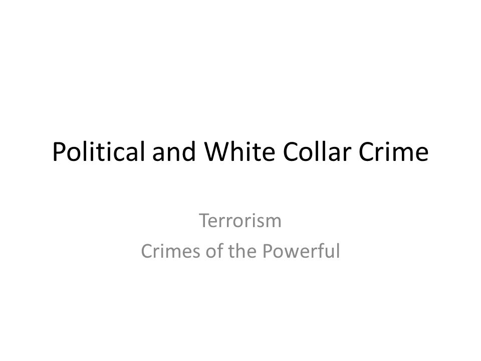 Organized Crime Criminal activity committed by groups with some manner of formalized structure – Primary goal is typically money and power Some ambiguity here – Street gangs versus drug cartels – Terrorist groups