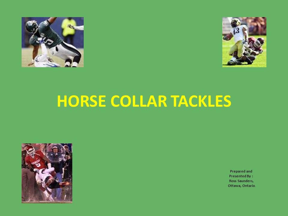 HORSE COLLAR TACKLES Prepared and Presented By : Ross Saunders, Ottawa, Ontario.