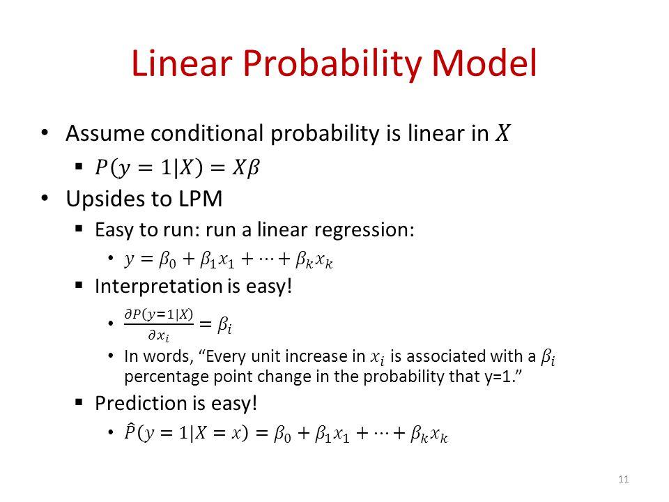 Linear Probability Model 11