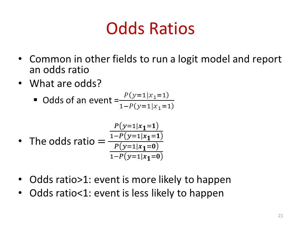 Odds Ratios 21