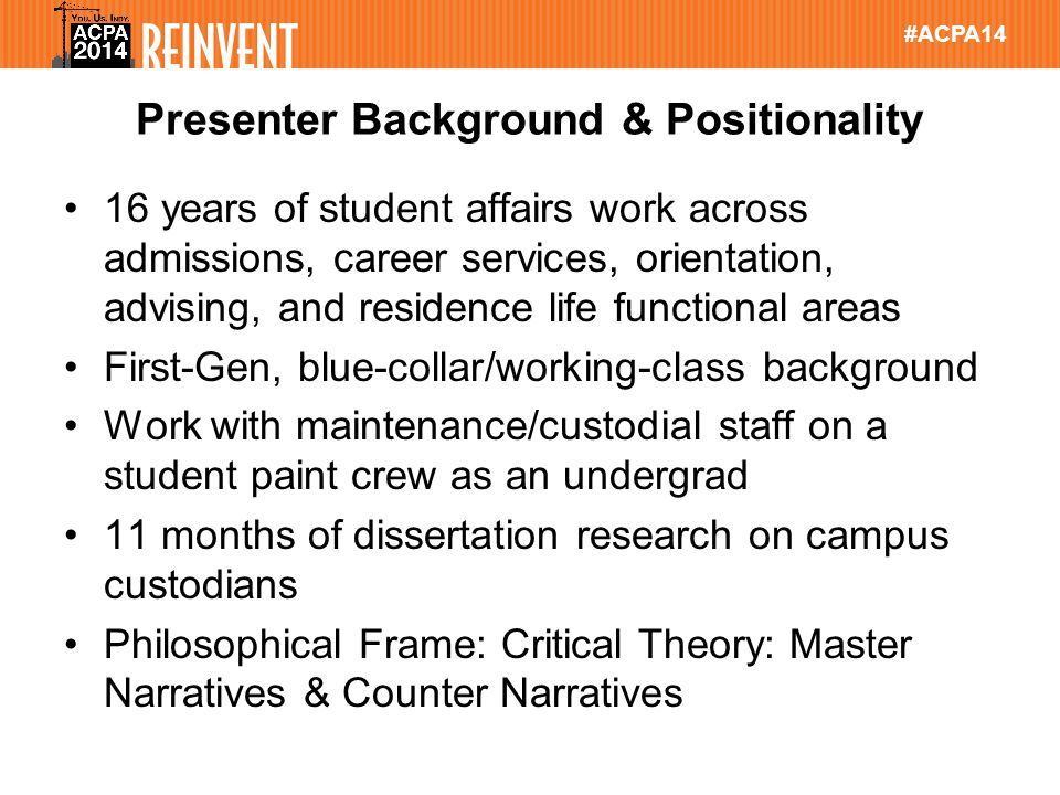 #ACPA14 Please Rate This Session in Guidebook 1.Find this session in Guidebook 2.Scroll to bottom and click on Rate this session 3.Complete Session Feedback Form