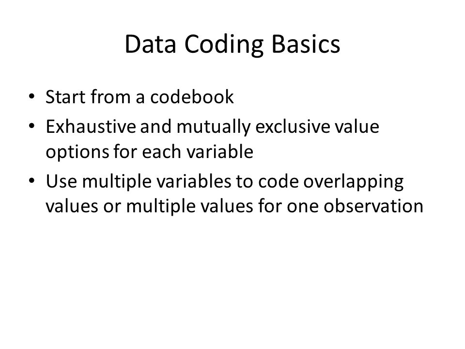 Example Codebook (White collar lawyer project) c_graduate_year: Year graduated from law school (or received the highest degree, if not law degree) 999 if the information is not available Note: type in the applicable year (YYYY) c_practice_area: Practice area 1.