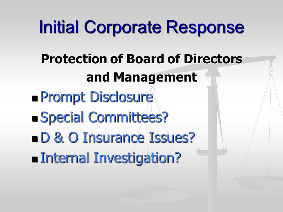 Search Warrant Response Discussion with Agents Request a Copy of the Warrant Request a Copy of the Warrant Advise that Employees are not Prepared to be Interviewed at the Time of Execution of the Warrant Advise that Employees are not Prepared to be Interviewed at the Time of Execution of the Warrant