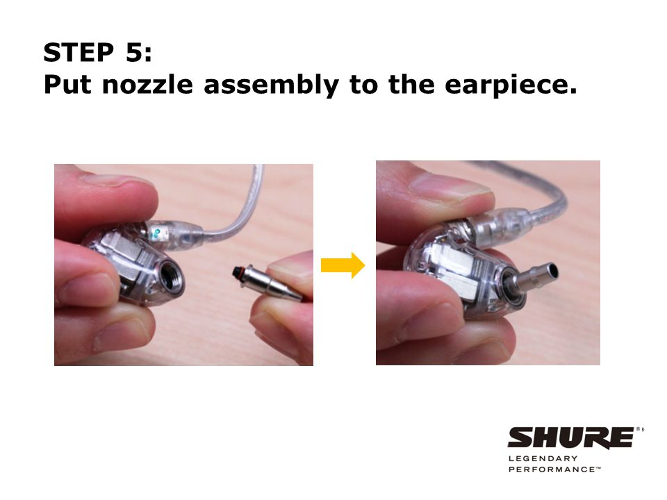 Be careful not to drop the nozzle assembly. Nozzle collar STEP 6: Install the nozzle collar.