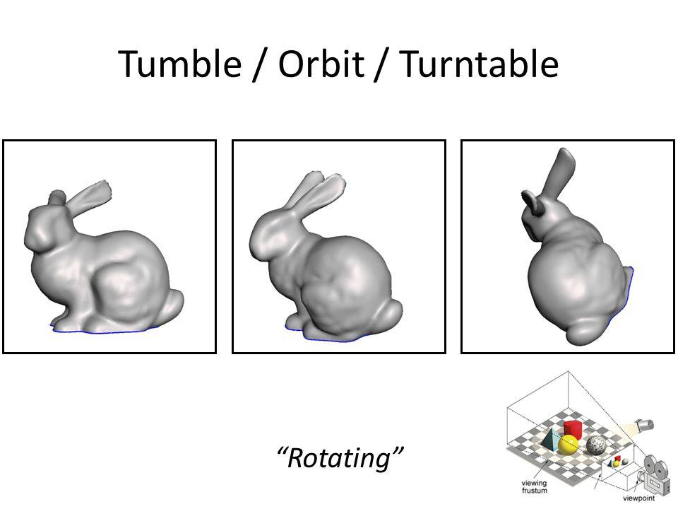 Tumble / Orbit / Turntable Rotating