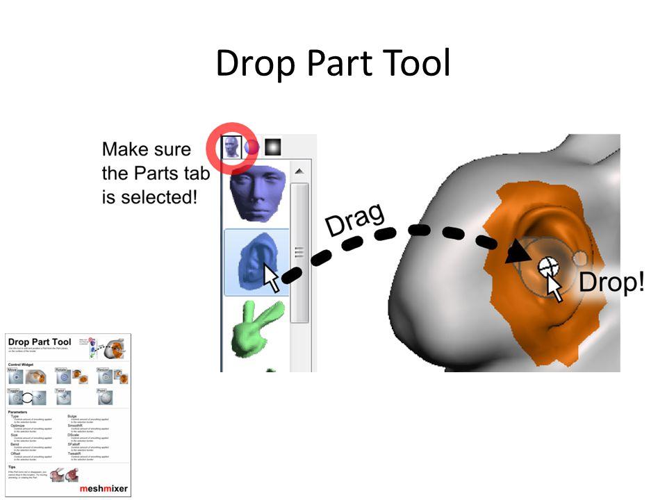 Drop Part Tool