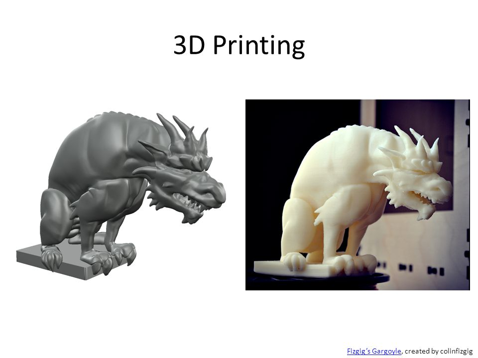 3D Printing Fizgig's GargoyleFizgig's Gargoyle, created by colinfizgig
