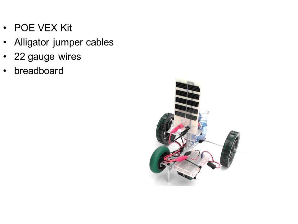 POE VEX Kit Alligator jumper cables 22 gauge wires breadboard