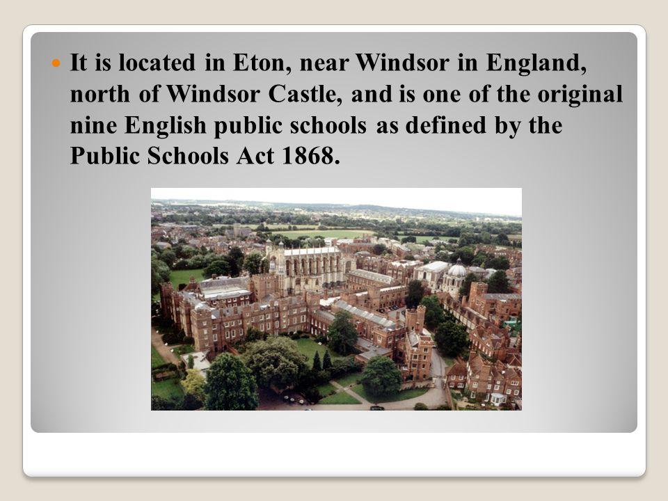 Students 1,300 Gender Boys Ages 13–18 Houses 25 Colours Eton blue