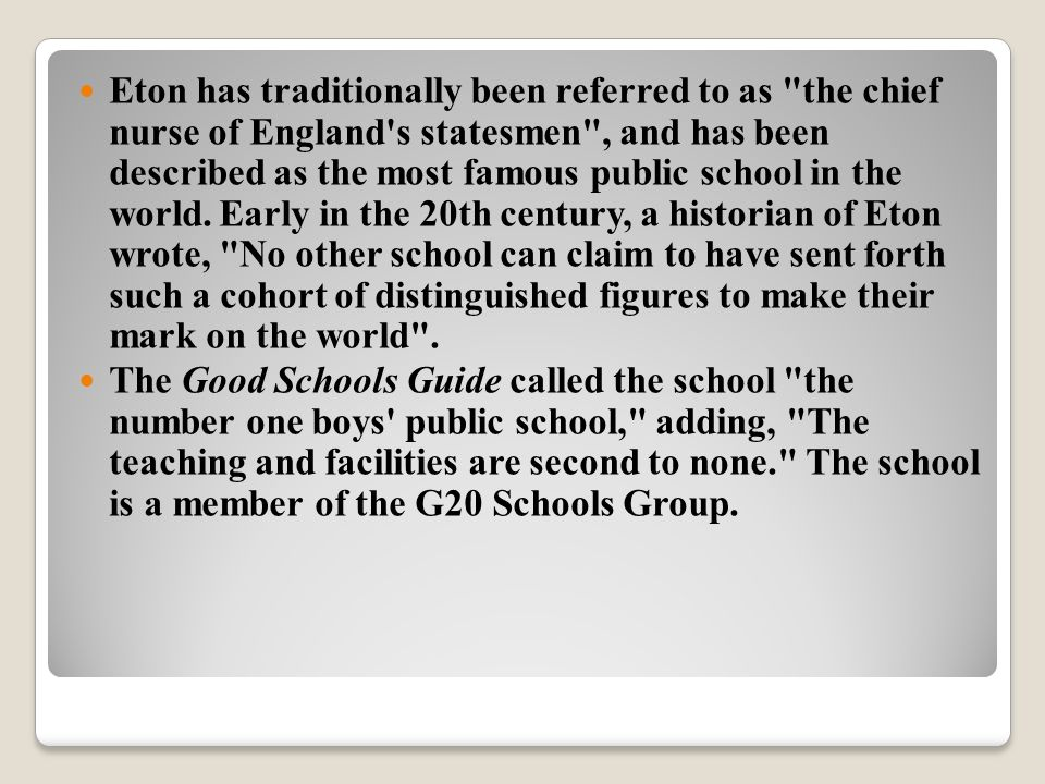 The school is headed by a Provost and Fellows (Board of Governors), who appoint the Head Master.