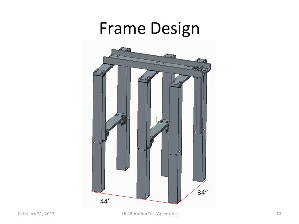 Frame Design February 21, 2013UL Vibration Test Apparatus12 44 34