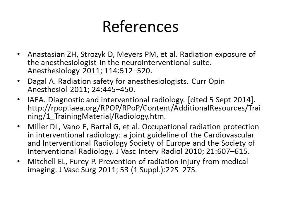 References Anastasian ZH, Strozyk D, Meyers PM, et al.