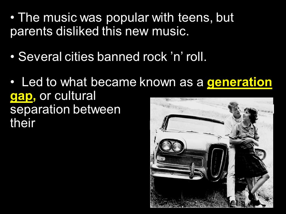 Section 3-10 In 1956 Elvis Presley became a rock 'n' roll hero for many teenagers.