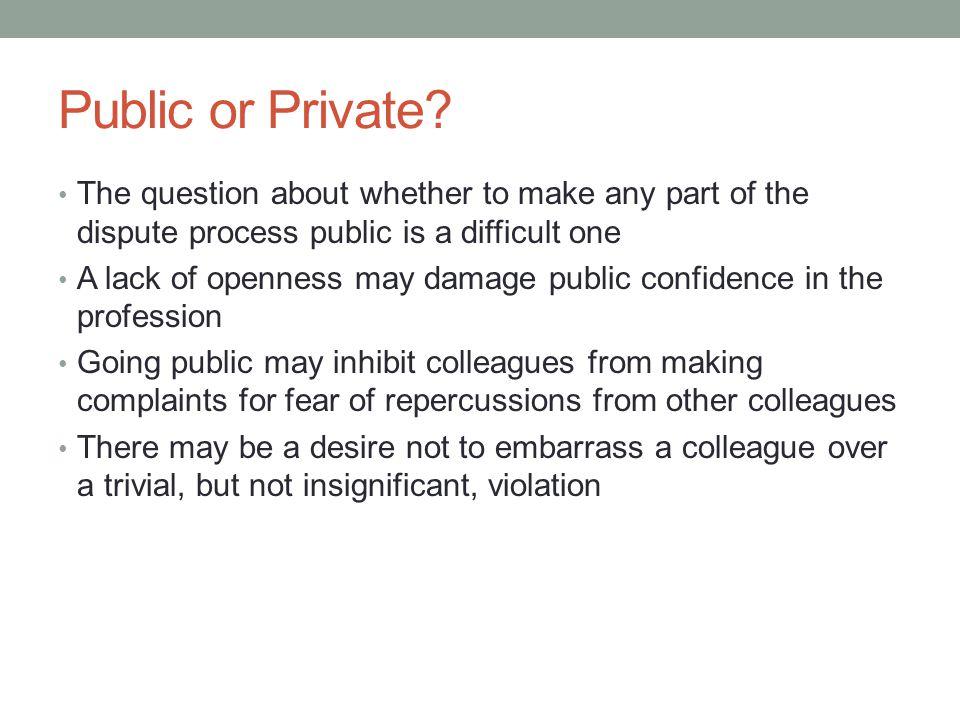 Public or Private.