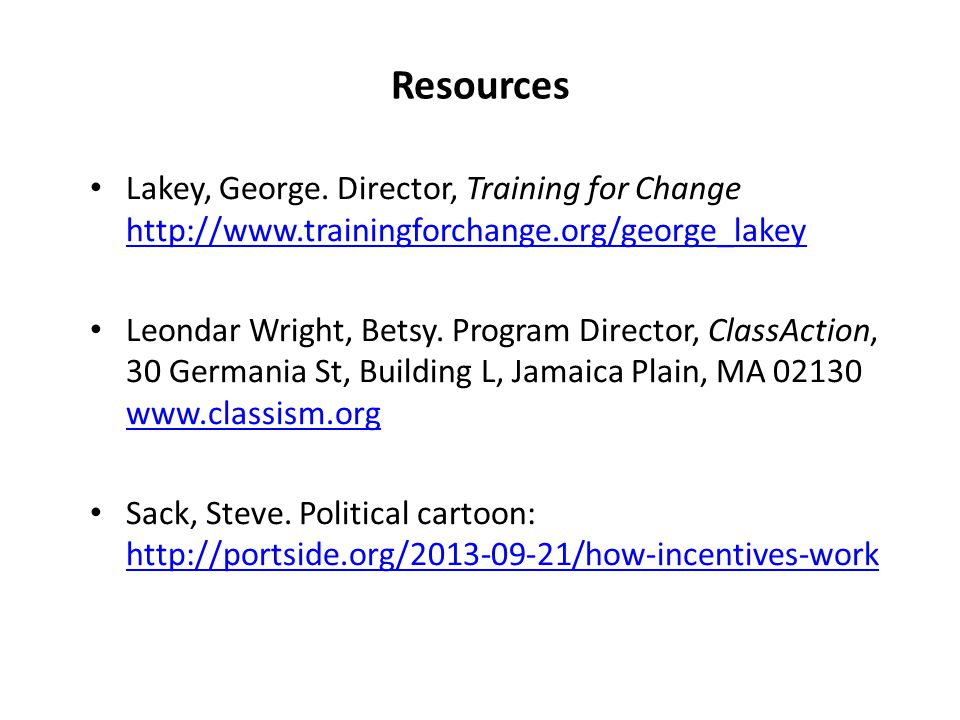 Resources Lakey, George.
