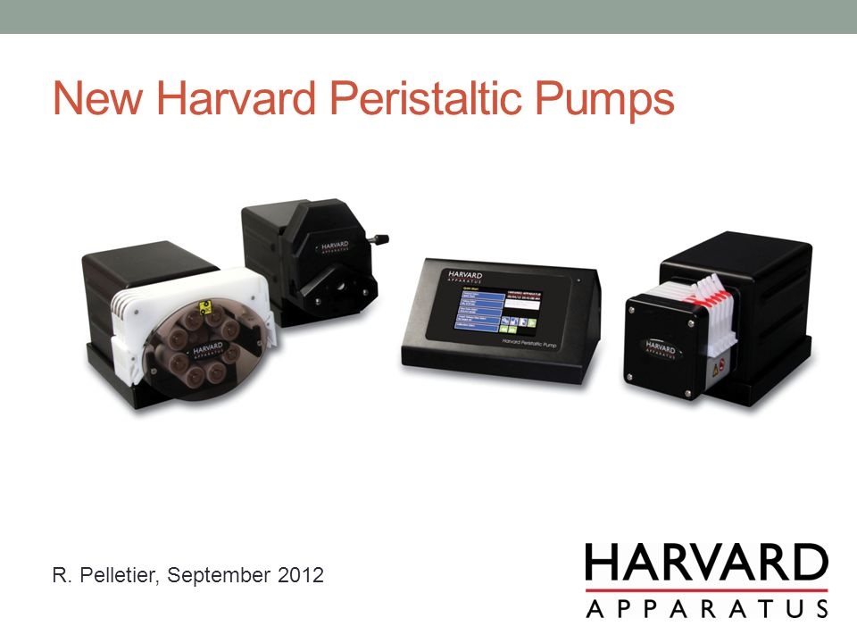 New Harvard Peristaltic Pumps R. Pelletier, September 2012