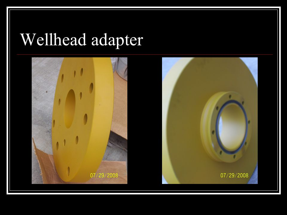 SA Wellhead 3-D Breakdown SA head with bushings Shown complete with all components