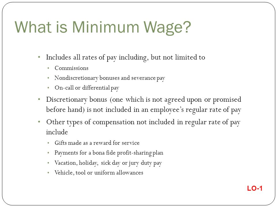 What is Minimum Wage.