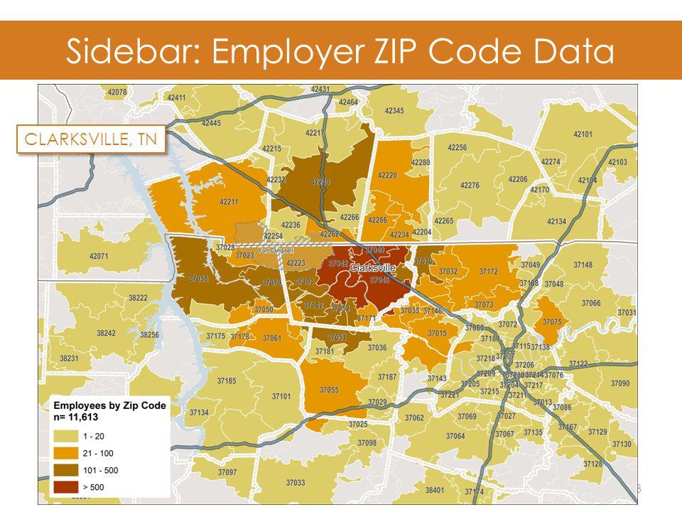 Sidebar: Employer ZIP Code Data 23 CLARKSVILLE, TN