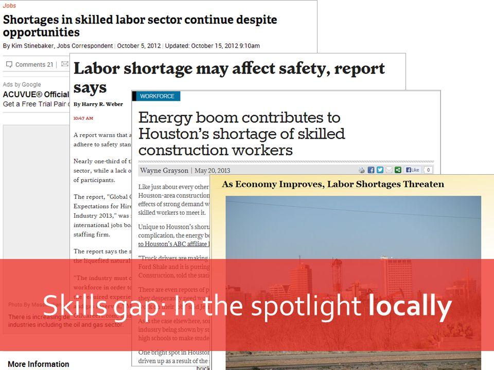 Skills gap: In the spotlight locally
