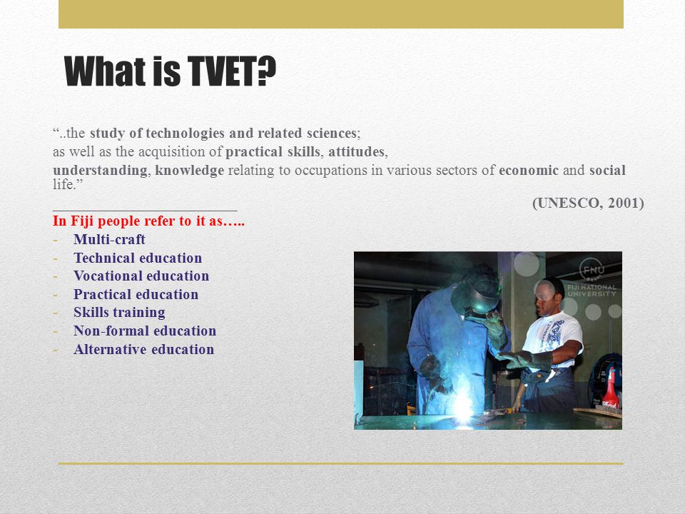 What is TVET.