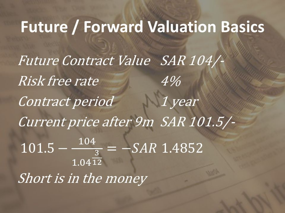Future / Forward Valuation Basics