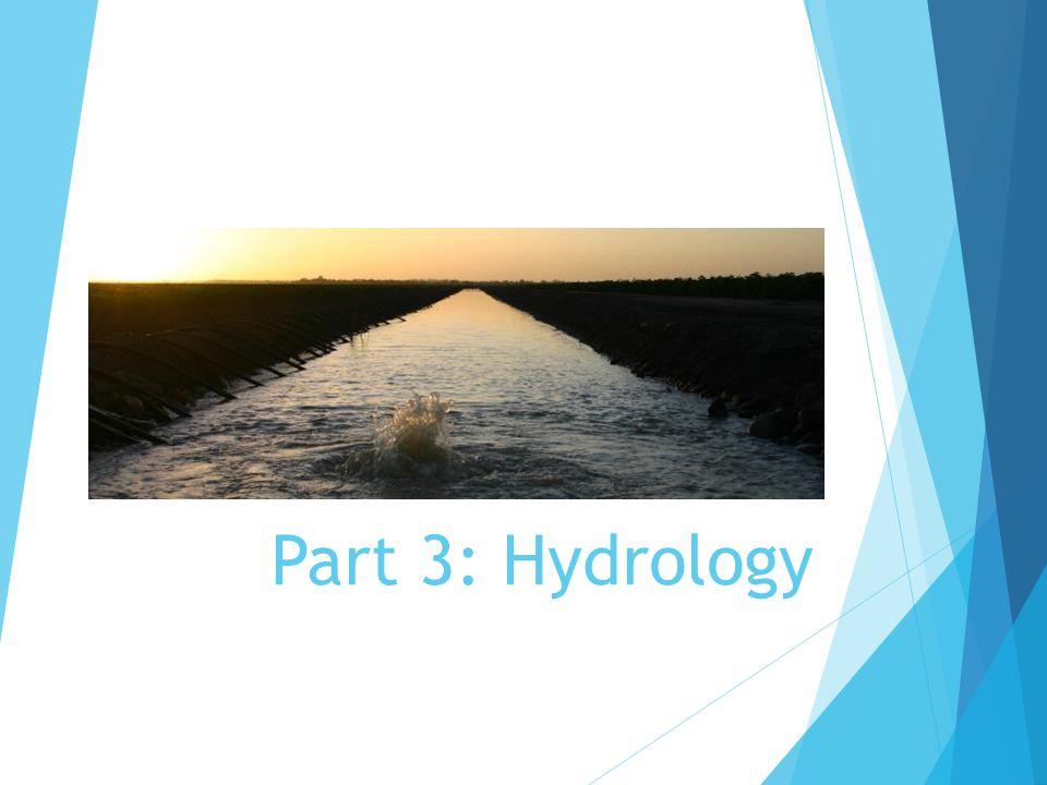 Part 3: Hydrology