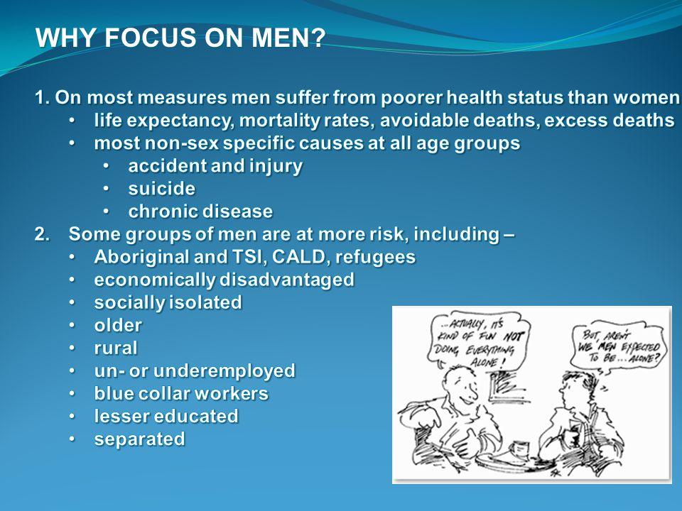 WHY FOCUS ON MEN