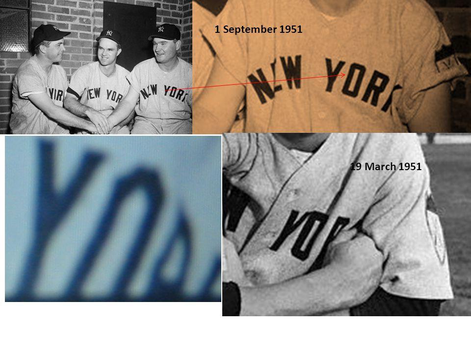 1 September 1951 19 March 1951
